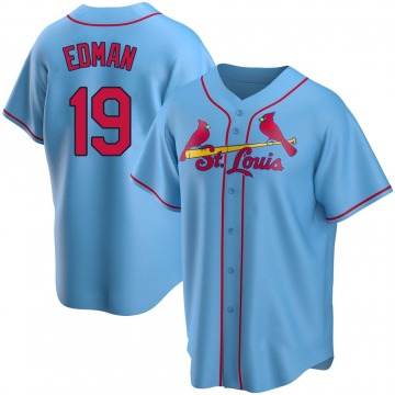 Men's St. Louis Cardinals Tommy Edman Light Blue Alternate Jersey - Replica