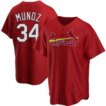 Men's St. Louis Cardinals Yairo Munoz Red Alternate Jersey - Replica